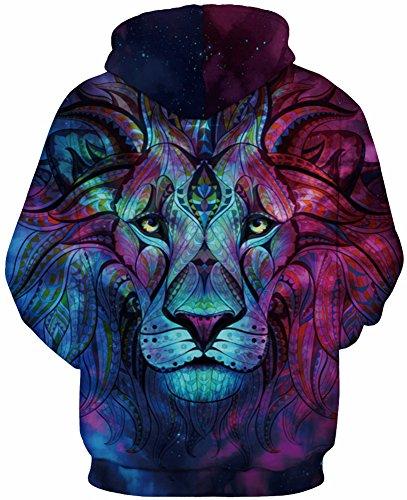 lion Fantaisie Tdolah Homme Hiver Capuche Sweats Pull À Galaxy shirt 2 3d Sweat 1rgP1w8x