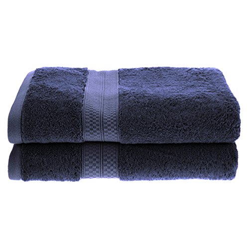 2-Piece Bath Towel Set, Soft Rayon From Bamboo, Quick Dry, River (Bamboo Fiber Towel)