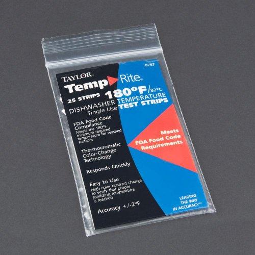 Taylor Precision 8767J TempRite 180° F Dishwasher Strip - 25 / PK