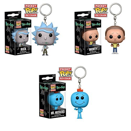 Rick and Morty Pocket Pop! Keychains Set of 3