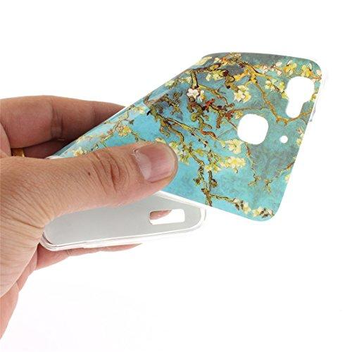 Téléphone Cas Motif Cas P8 Antichoc Transparent Hozor Arrière Mini P8 Protection Scratch En Silicone Bord Fit Couverture Souple Peint Pear Résistant TPU De De Lite flower Huawei Slim 5XwxxHY1