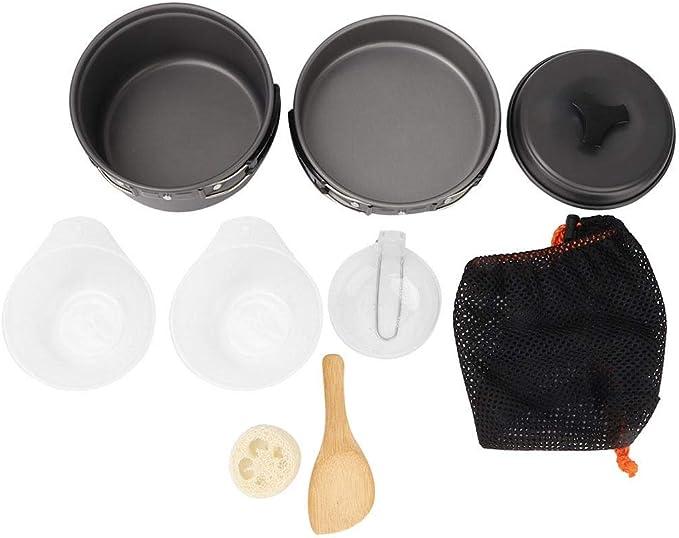 NITRIP Camping Pan Camping Pot, Utensilios de Cocina de ...