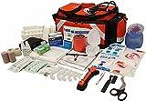LINE2design Elite Emergency Medical EMS Paramedic Trauma Bag Kit Complete Rescue Supplies - Orange