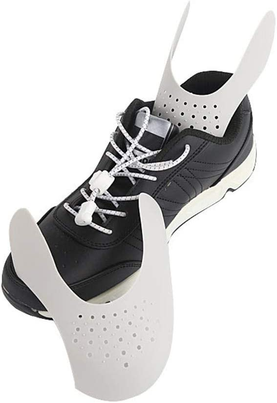 1 Paar Schutzschuhe Knitterschutz Kunststoff Anti-Falten Sportschuhe Schutz Anti-Shoe Box Einbuchtung Sneaker Shields Anti Falten tragbarer Zehenkappenschutz 95sCloud Sneaker Shields
