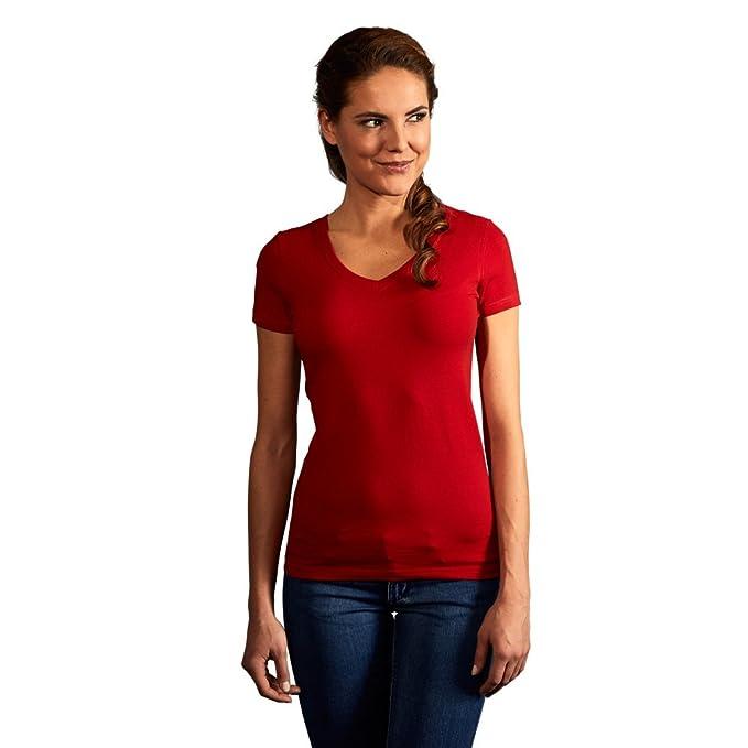 a1da54a2 Promodoro Women Slim Fit V-Neck T-shirt: Amazon.co.uk: Clothing