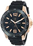 UNLISTED WATCHES Men's UL1202 City Streets Round Rose Gold Black Dial Strap Watch, Watch Central