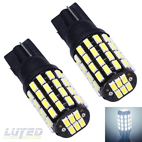 LUYED 2 X 650Lumens Super Bright 12-24v T10 3014 54-EX Chipsets W5W 194 168 2825 Led Bulbs,Xenon White