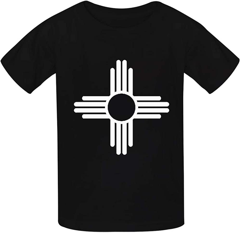 Xie Junsss Kids New Mexico Sun Symbol Cotton Short Sleeve Shirt 3D Print Cool Graphics Tees