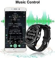 Tipmant Reloj Inteligente Mujer Hombre SN08 Smartwatch Pantalla táctil con Ranura para Tarjeta SIM Cámara Podómetro Pulsera de Actividad para ...