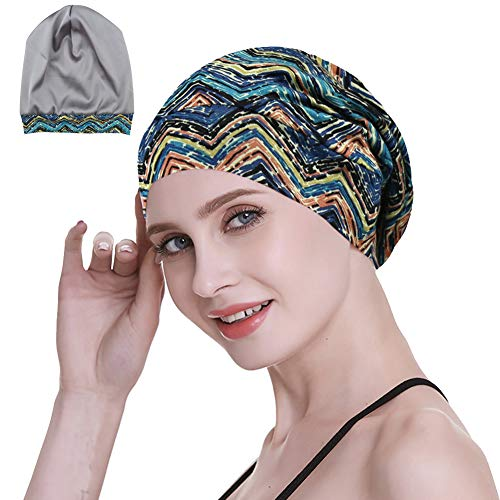 Ladies Sleeping Cap for Frizzy Hair Night Beanie