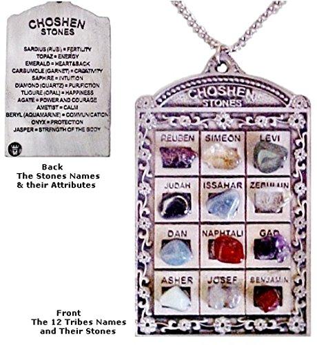 Large High Priest Chestplate ornament hanging pendant 12 tribes of Israel the Ephod Choshen Hoshen (Pendant Stone Pewter)