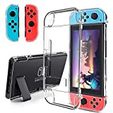 BestFire Dockable Case for Nintendo Switch Joycon Cover Protectors Hard PC Protective Accessories Cover Case for Nintendo Switch and Joy-Con Controller, Crystal Clear