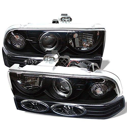 For 98-05 Chevy S10 | Blazer Pickup Truck Black Bezel Projector Headlight + Bumper light Assembly