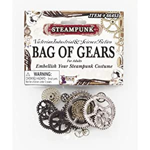 Forum Novelties Men's Steampunk Victorian Bag Of Gears Costume Accessory