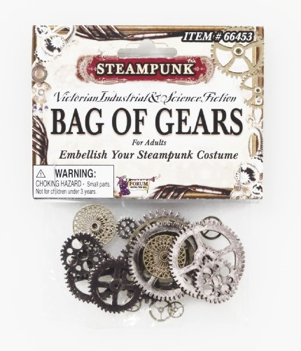 Broadway Themed Halloween Costumes (Forum Novelties Men's Steampunk Victorian Bag Of Gears Costume Accessory, Multi Colored, One Size)