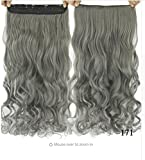 french twist hair accesory - dolly2u 60cm Synthetic Clip In Hair Extension Heat Resistant Hairpiece Natural Curly Wavy Hair Extensions#2