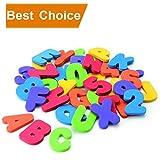 AMY Bath Toy 36pcs Soft Foam Letters Numbers