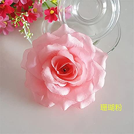 Amazon silk flowers wholesale 100 artificial silk rose heads silk flowers wholesale 100 artificial silk rose heads bulk flowers 10cm for flower wall kissing balls mightylinksfo Choice Image