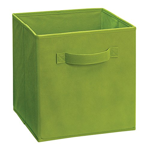 Connect Media Drawer - ClosetMaid 51532 Cubeicals Fabric Drawer, Spring Green