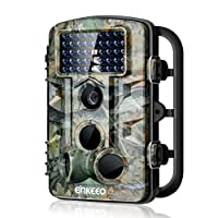 """Enkeeo PH730S Trail Game Camera 1080P 12MP Wildlife Hunting Camera Infrared Night Vision IP54 Water Resistant with 0.2s Trigger Time 2.4"""" LCD Screen Time Lapse"""