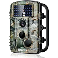 Enkeeo PH730S Trail Game Camera 1080P 12MP Wildlife Hunting Camera Infrared Night Vision IP54 Water Resistant with 0.2s Trigger Time 2.4' LCD Screen Time Lapse