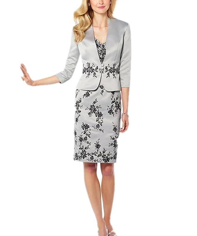 APXPF Femme longueur genou dentelle mère de la robe de mariée avec la veste  de satin  Amazon.fr  Vêtements et accessoires 10adf40f8bf7