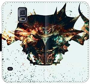Noxxroggs Máscara BBU O5J2C Funda Samsung Galaxy S5 funda de cuero caja de la carpeta k0644o fundas caja del teléfono celular del tirón rugosas