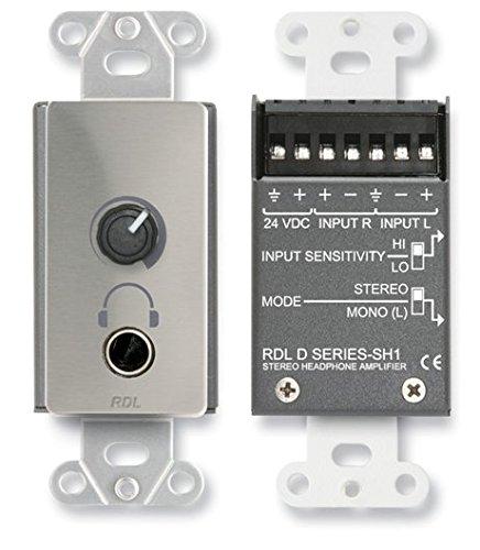 2 RDL DS-SH1 Stereo Headphone Amplifier-Decora; Panel w/User Level - Ctrl Panel