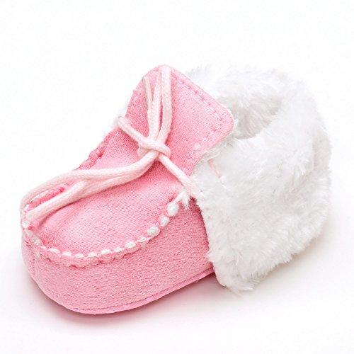 Bebé Girls 'Boys' Classic suave suela botas de invierno para zapatos de cuna gris gris Talla:12-18month Rosa