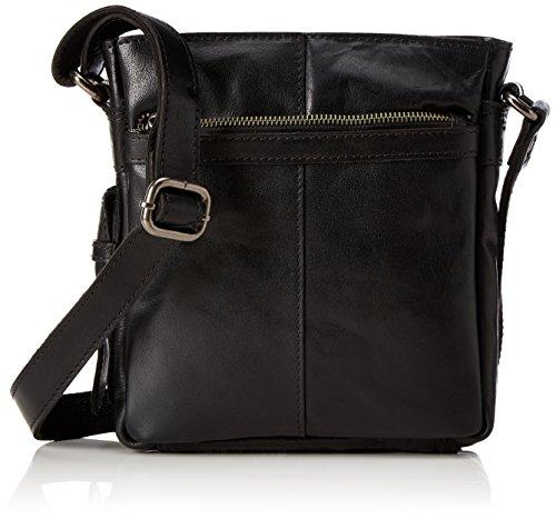 Spikes & Sparrow Crossover Bag - Borse a tracolla Donna, Schwarz (Black), 7x31x25 cm (B x H T)