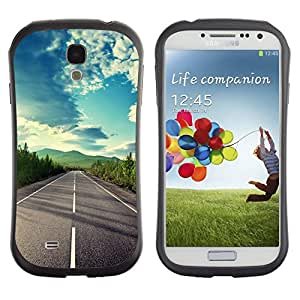 Suave TPU GEL Carcasa Funda Silicona Blando Estuche Caso de protección (para) Samsung Galaxy S4 I9500 / CECELL Phone case / / Open Road Freedom Sky Drive Summer /