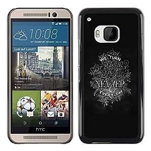 iBinBang / Funda Carcasa Cover Skin Case - Newer Inspiring Motivational Text - HTC One M9