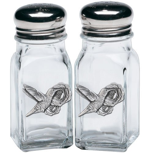 - HUMMINGBIRDS SALT & PEPPER SHAKERS WITH PEWTER LOGO