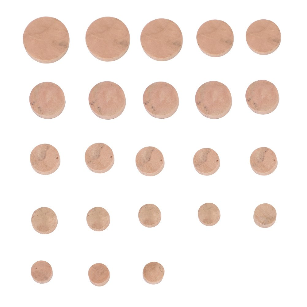 Dilwe 23Pcs Oboe Cork Pads, Sound Hole Pad Musical Instrument Repair Parts Accessory