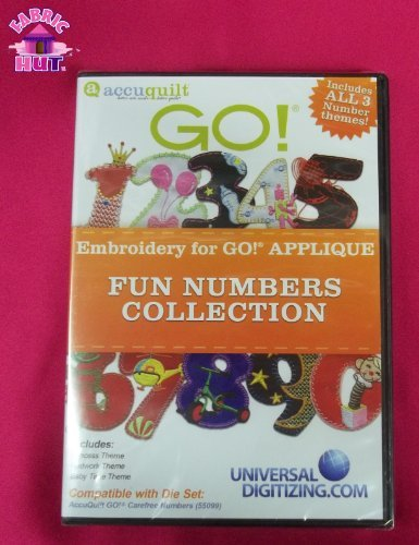 GO! Applique Fun Numbers Collection Embroidery - Hut Cd