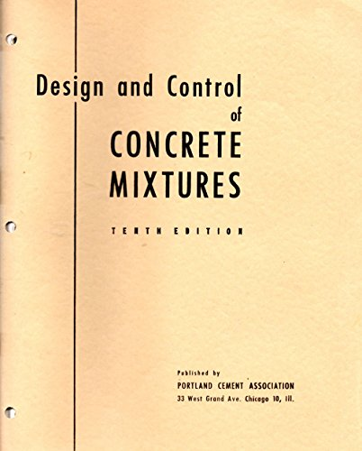(Design and Control of Concrete Mixes)