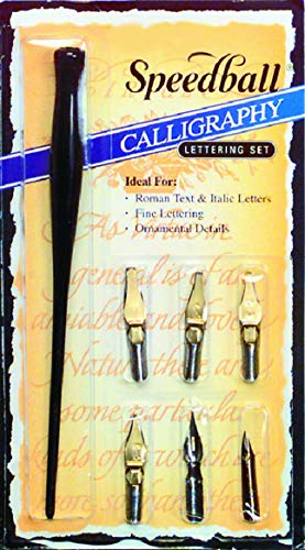 Speedball Art Products SB2961 6-Nib Calligraphy Lettering Set from Speedball