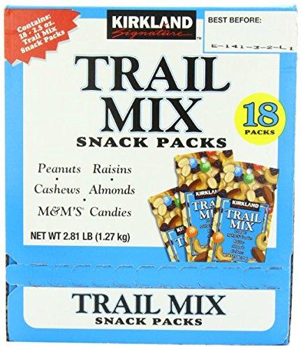 Signature Trail Mix Snacks, Peanut, M7M Candies, Raisins, Almonds, Cashews, 2.81 - Pound (2 Boxes) by Kirkland Signature