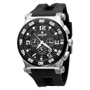 Lancaster Men's  OLA0347SS/NR Barreto Black Dial Watch Model