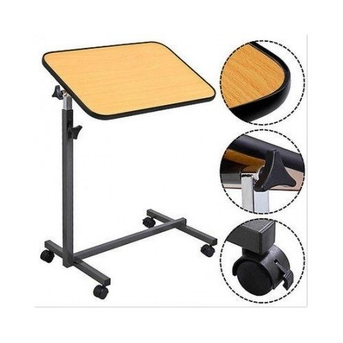 Laptop Food Tray Overbed Table Rolling Desk Hospital Over Bed with Tilting Top Drywall Stilts 24-40 Inch Aluminum Tool Stilt for Painting Painter (Rolling Stilts)