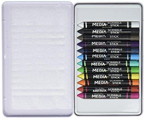 Ranger MDA54733 Dina Wakley Media Scribble Sticks 12/Pkg by Ranger