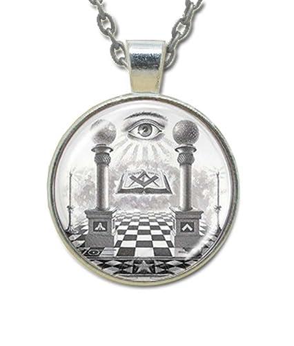 Masonic Glass Necklace