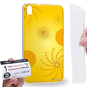 Case88 [HTC Desire 816] Gel TPU Carcasa/Funda & Tarjeta de garantía - Art Fashion Design Sunrise Art1472