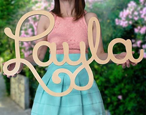 Name Letters Decor (Custom Personalized Wooden Name Sign 12-55