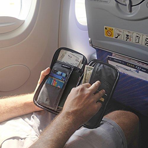 Naturehike Multifunctional Travel wallet Passport Wallet with Hand Strap, Passport Holder Travel Organizer Wallet for Card Money Ticket Mobile
