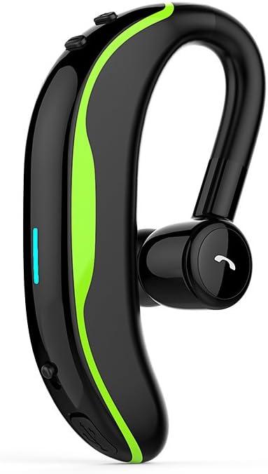 YHML Auricular Manos Libres Bluetooth,Tiempo de reproducción de 6 Horas,Inalámbrico Auricular de Earbud 12g, con el micrófono, Solo oído, para el móvil/la Tableta,Black