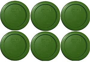 Pyrex Green 2 Cup Round Storage Cover #7200-PC for Glass Bowls - 6 Pack PackageQuantity: 6 Color: Green Model: (Home & Kitchen)