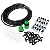 Williant DIY 32FT 20 Nozzles Misting System Kit Water Mister Air Misting Cooling System Kit for Greenhouse Lawn Plant Garden Outdoor Patio (32FT 20 Nozzles~)