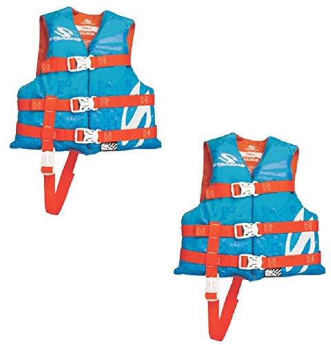 上質で快適 Stearns Vest 3000002196 Classic Orange Blue & Orange Quantity Children's PFD/ Life Vest - Quantity 2 B072JWNZZ4, アートシューズ【モニシャン】:789d04b5 --- a0267596.xsph.ru