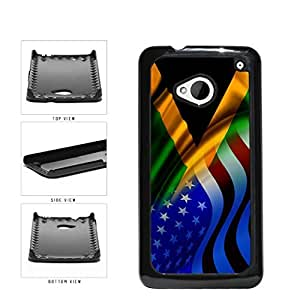 Jamaica and USA Mixed Flag Plastic Phone Case Back Cover HTC One M7